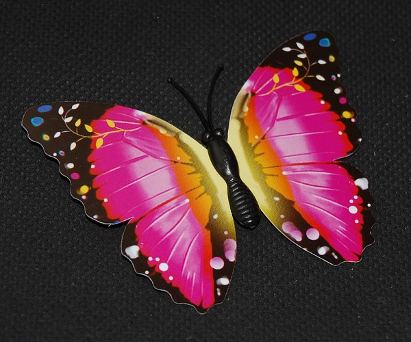 Magnet Schmetterling pink/rosa 70x55 mm - BFRO0021