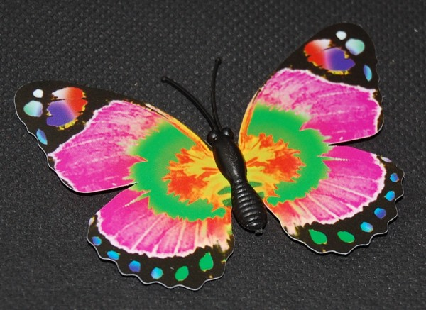 Magnet Schmetterling pink/rosa 70x50 mm - BFRO0008