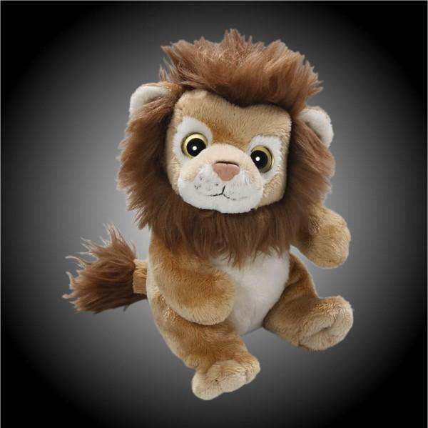 Löwe mit Mähne braun sitzend aus Plüsch mit großen Augen, Plüsch Löwe 15 cm - Kuscheltier CD-3028-02