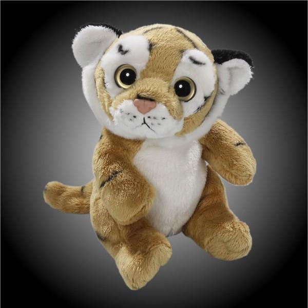 Tiger braun sitzend aus Plüsch mit großen Augen, Plüsch Tiger 15 cm - Kuscheltier CD-3028-04