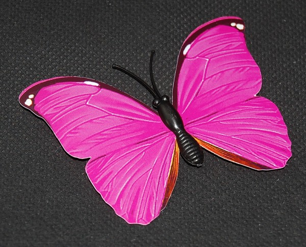 Magnet Schmetterling pink/rosa 70x50 mm - BFRO0022