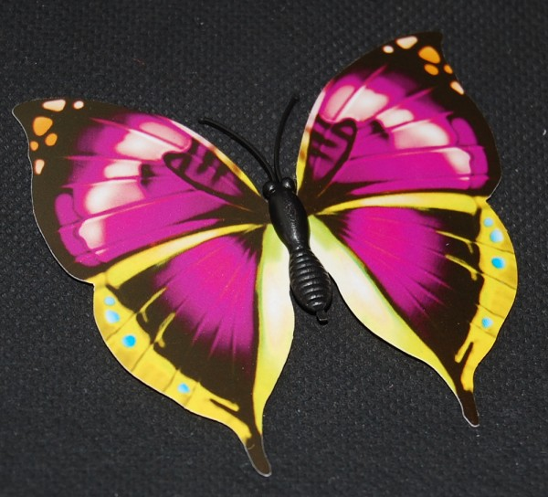 Magnet Schmetterling pink/rosa 70x65 mm - BFRO0018