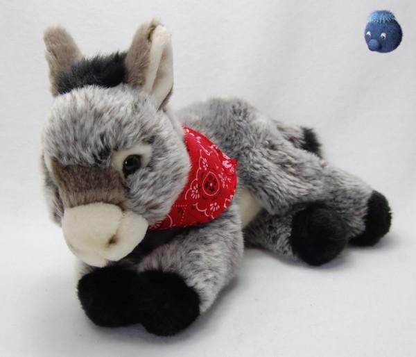 Esel grau liegend aus Plüsch ★ Plüsch Esel 25 cm