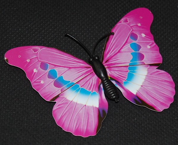Magnet Schmetterling pink/rosa 70x50 mm - BFRO0007