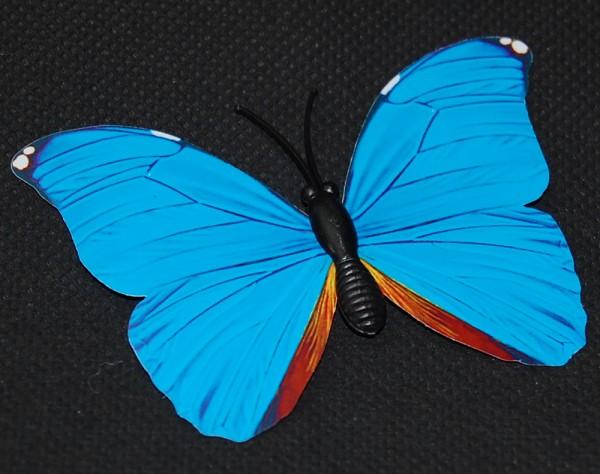 Magnet Schmetterling blau 70x50 mm