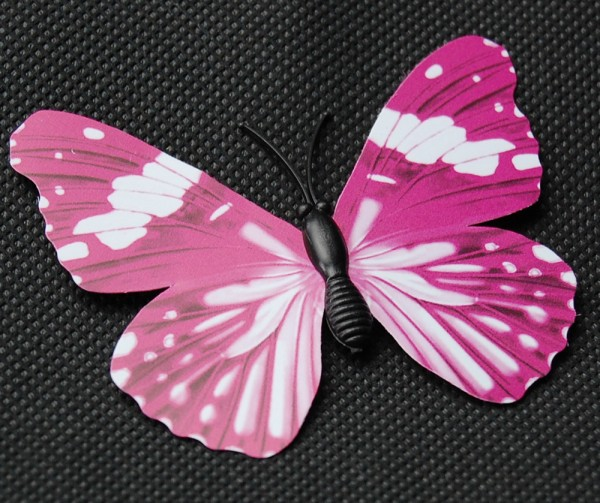 Magnet Schmetterling pink/rosa 70x55 mm - BFRO0005