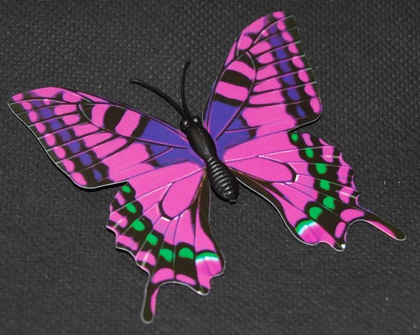 Magnet Schmetterling pink/rosa 70x65 mm - BFRO0004