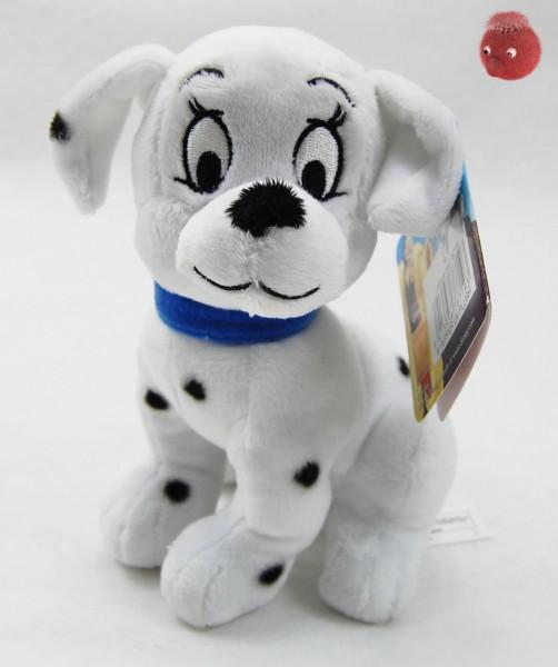 101 Dalmatiner Welpen weiß, schwarz sitzend aus Plüsch, Plüsch Hund 16 cm - Kuscheltier DIS871903