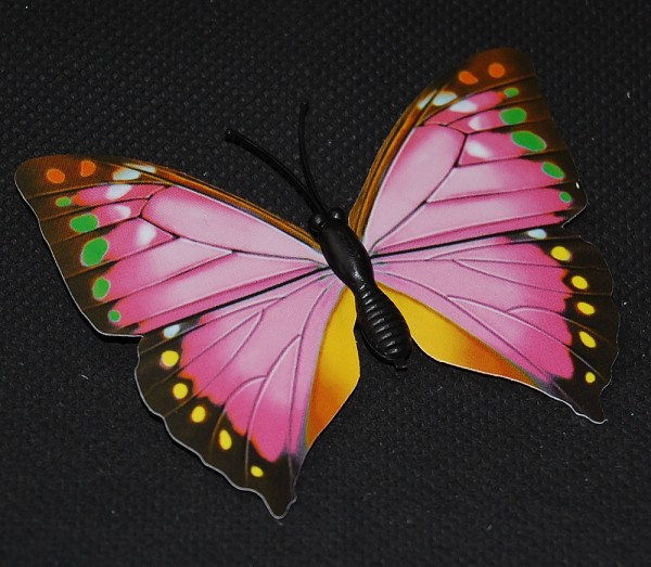 Magnet Schmetterling pink/rosa 70x55 mm - BFRO0010