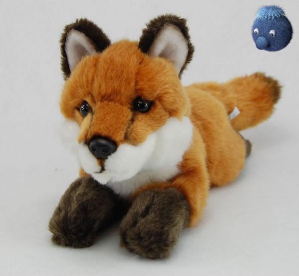 Fuchs liegend aus Plüsch, Plüsch Fuchs 21 cm