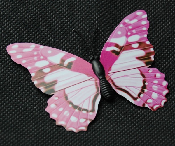 Magnet Schmetterling pink/rosa 70x55 mm - BFRO0015