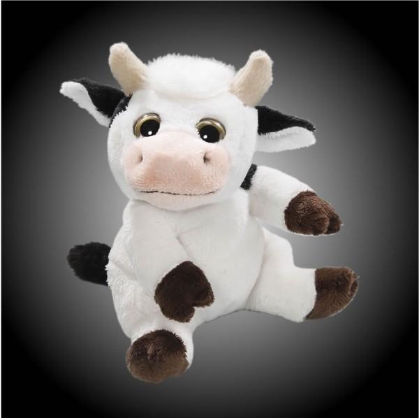 Kuh sitzend aus Plüsch mit großen Augen, Plüsch Kuh 15 cm - Kuscheltier CD-3029-03