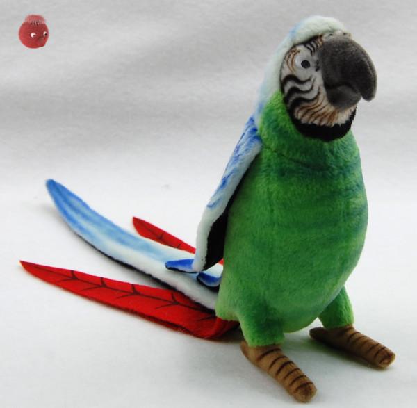 Hansa Toys ★ Plüschtier Papagei ★ Plüsch Papagei grün/blau★ Plüschpapagei 16 cm