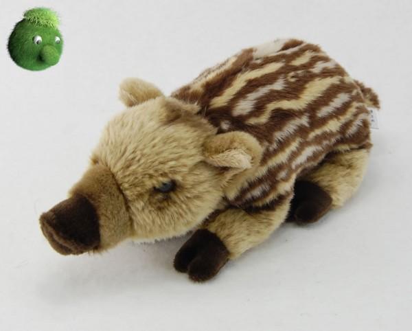 Junges Wildschwein liegend aus Plüsch ★ Plüsch Wildschwein, 26 cm