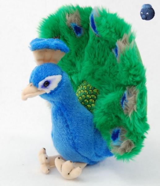 Pfau aus Plüsch ★ Plüschpfau stehend mit tollen Farben 25 cm - PP305500