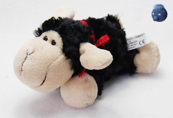 Schaf mit Tuch aus Plüsch ★ Plüsch Schaf schwarz, beige 19cm
