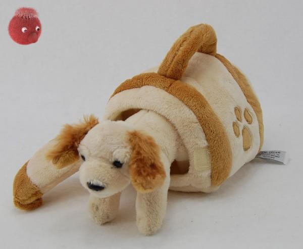 Cocker mit Hundehütte aus Plüsch ★ Plüschhund 15 cm