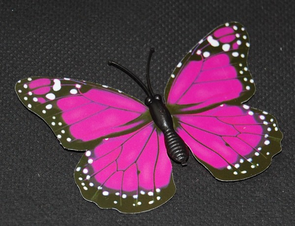Magnet Schmetterling pink/rosa 70x50 mm - BFRO0012