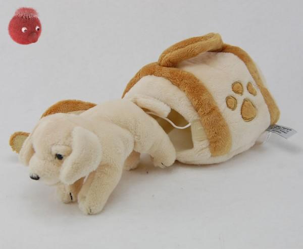 Golden Retriever mit Hundehütte aus Plüsch ★ Plüschhund 15 cm