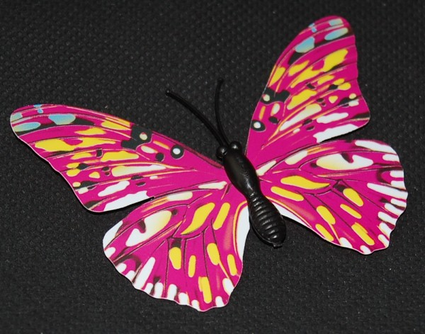 Magnet Schmetterling pink/rosa 70x50 mm - BFRO0003