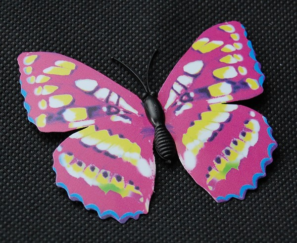 Magnet Schmetterling pink/rosa 70x60 mm - BFRO0023