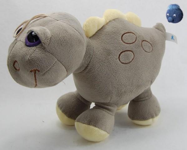Dino grau stehend aus Plüsch ★ Plüsch Dino 30 cm