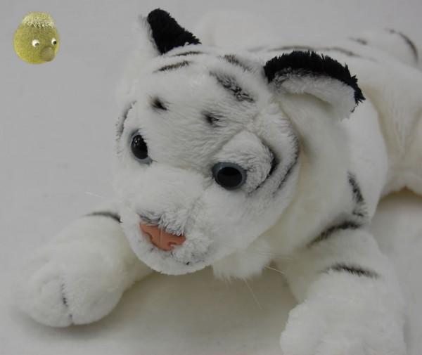 Kuscheltier Tiger weiß liegend ★ Plüschtier Plüschtiger 24cm PP161302