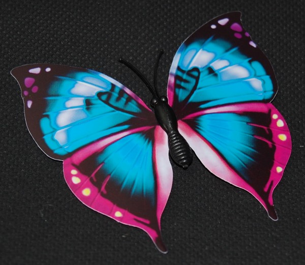 Magnet Schmetterling blau 70x65 mm