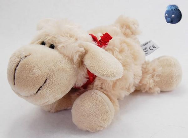 Schaf mit Tuch aus Plüsch ★ Plüsch Schaf beige 19cm