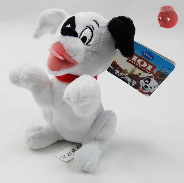 101 Dalmatiner Welpen weiß, schwarz sitzend aus Plüsch, Plüsch Hund 16 cm - Kuscheltier DIS871904
