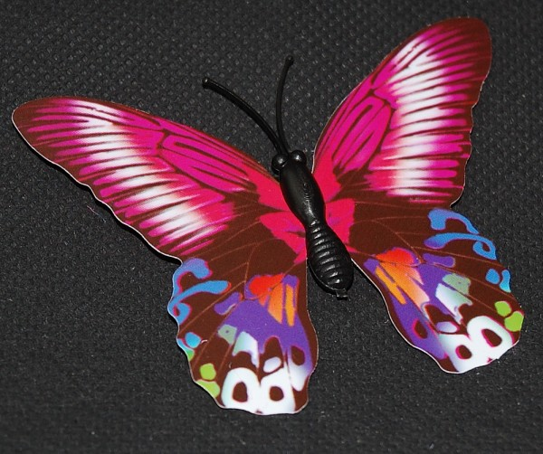 Magnet Schmetterling pink/rosa 70x55 mm - BFRO0009