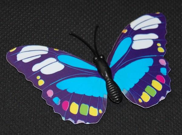 Magnet Schmetterling blau 70x40 mm