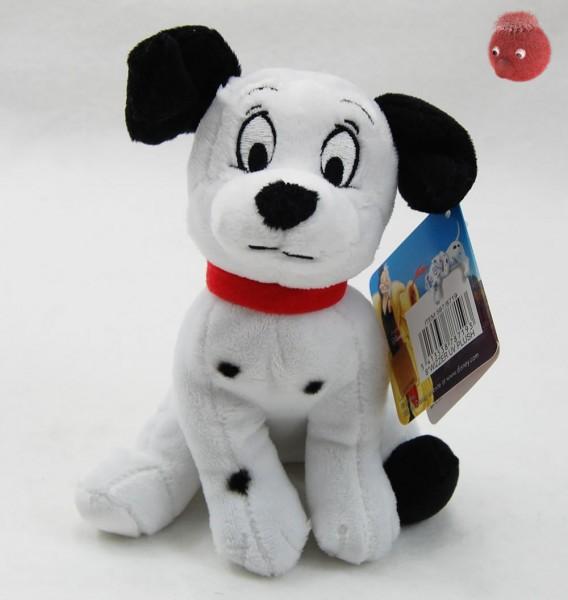 101 Dalmatiner Welpen weiß, schwarz sitzend aus Plüsch, Plüsch Hund 16 cm - Kuscheltier DIS871902