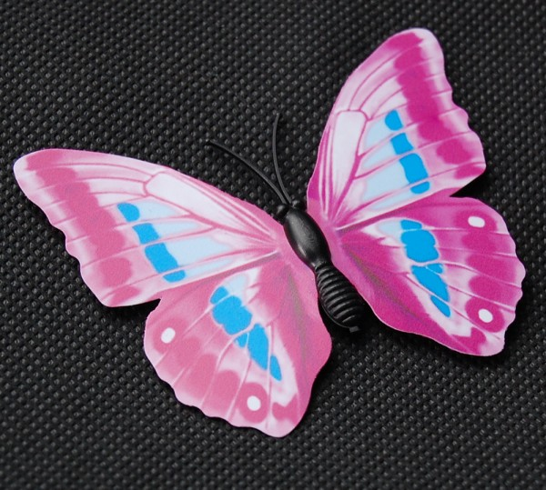 Magnet Schmetterling pink/rosa 70x55 mm - BFRO0019