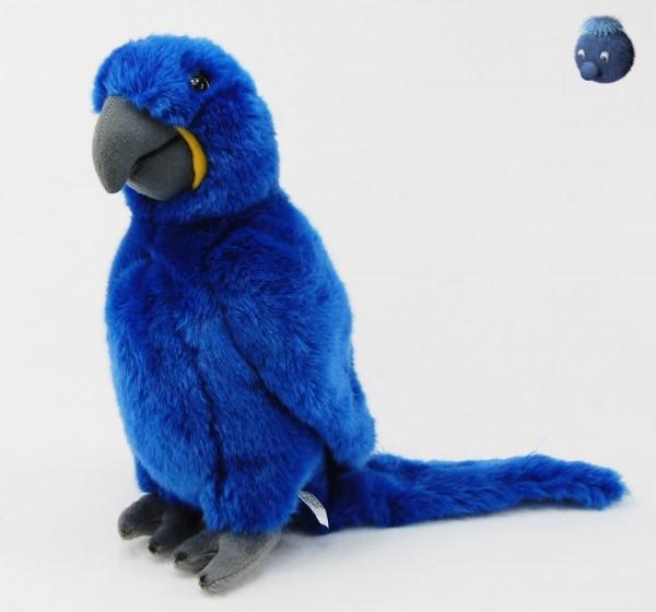 Papagei aus Plüsch, blau ★ Plüsch Papagei 25cm