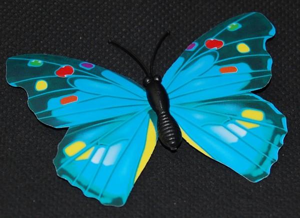 Magnet Schmetterling blau 70x60 mm