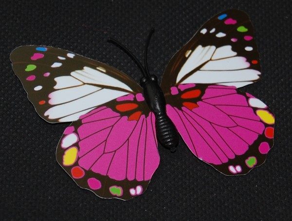 Magnet Schmetterling pink/rosa 70x55 mm - BFRO0020