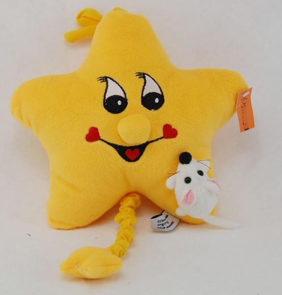 Plüschfigur ★★★ Spieluhr Stern mit Musik aus Plüsch ca. 24cm PP170100