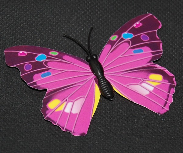 Magnet Schmetterling pink/rosa 70x50 mm - BFRO0001