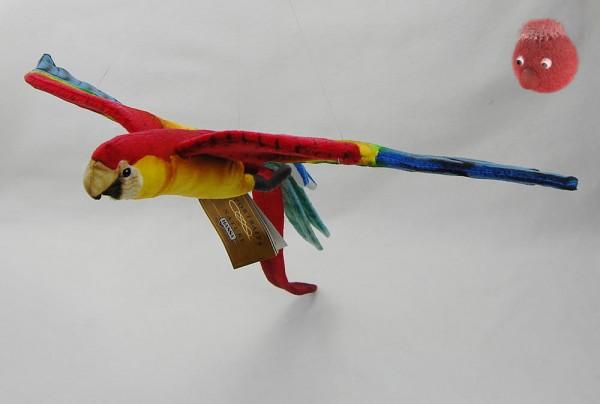 Hansa Toy ★ Papagei aus Plüsch ★ Bunter Plüsch Papagei 56 cm