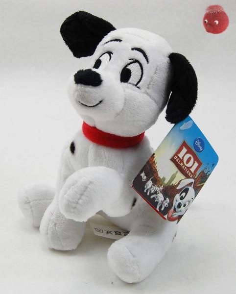 101 Dalmatiner Welpen weiß, schwarz sitzend aus Plüsch, Plüsch Hund 16 cm - Kuscheltier DIS871901