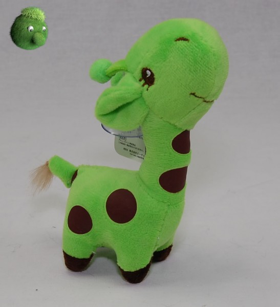 Kleine Giraffe grün mit Saugnapf 17 cm Plüschgiraffe - Kuscheltier 4800005